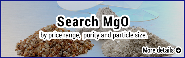 MgO product finder by price, purity, particle size